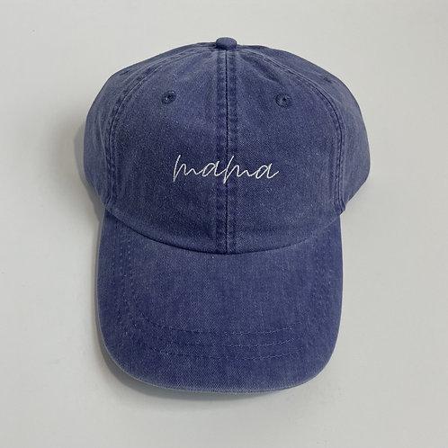 Mama Baseball Cap - Purple/White