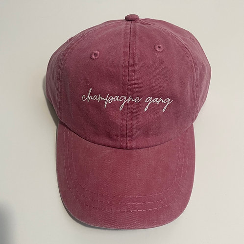 Champagne Gang Baseball Cap - Nautical Red/White