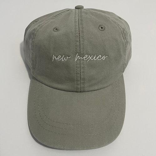 New Mexico Baseball Cap - Stone/White