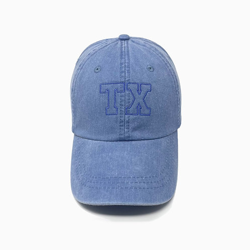 State Abbreviation Embroidered Pigment-Dyed Baseball Cap