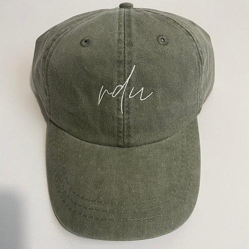 RDU Baseball Cap - Cactus/White