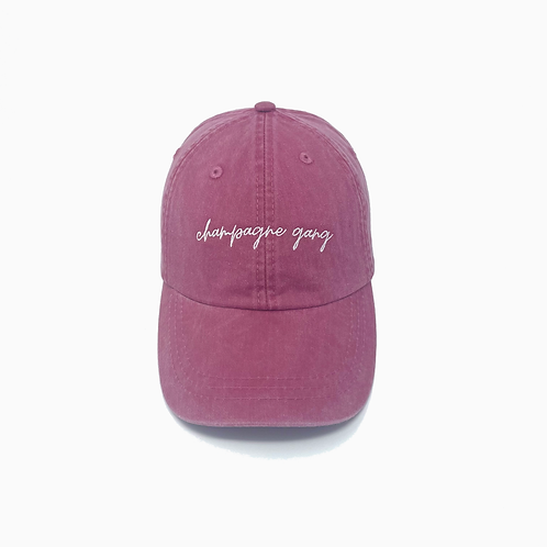 Champagne Gang Embroidered Pigment-Dyed Baseball Cap