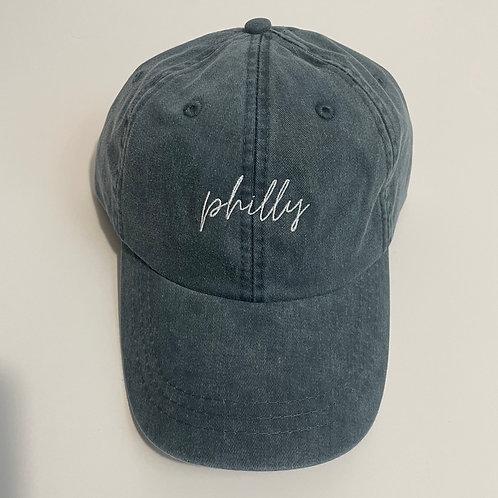 Philly Baseball Cap - Navy/White