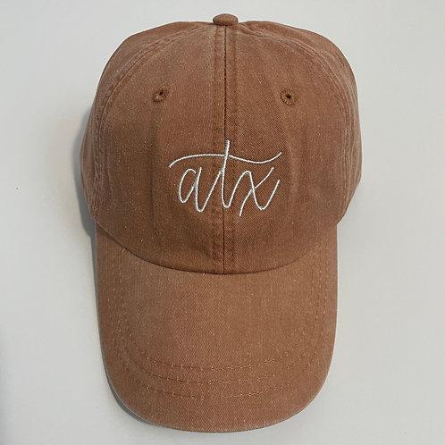 ATX Baseball Cap - Terra Cotta/White