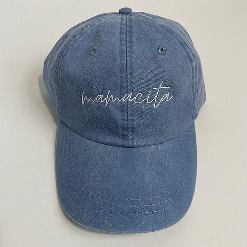 Mamacita Baseball Cap - Periwinkle/White