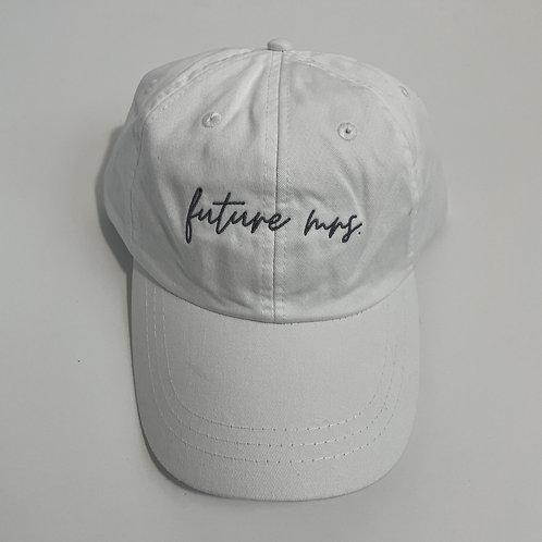 Future Mrs Baseball Cap - White/Gray