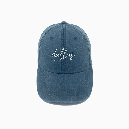 Dallas (TX) Embroidered Pigment-Dyed Baseball Cap