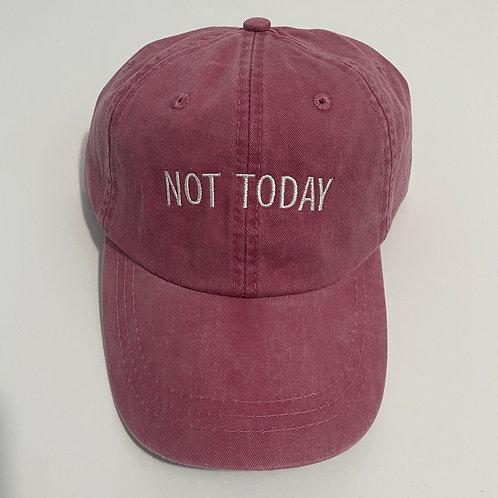 Not Today Baseball Cap - Nautical Red/White