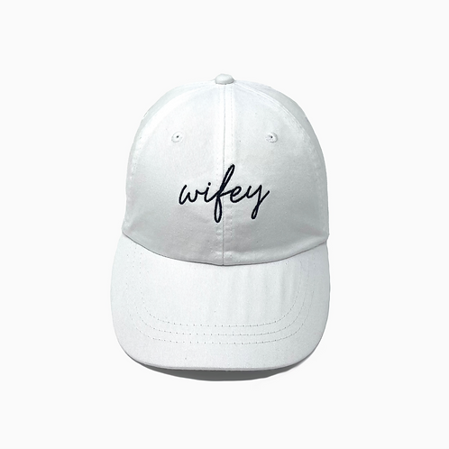 Wifey Embroidered Pigment-Dyed Baseball Cap