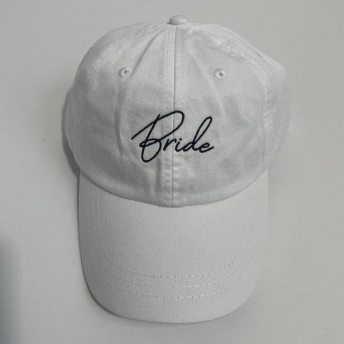 Bride Baseball Cap - White/Black
