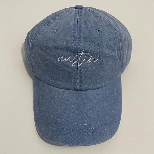 Austin Baseball Cap - Periwinkle/White