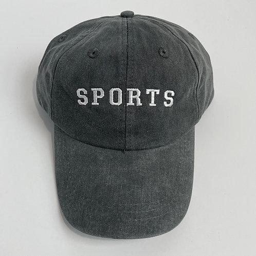 SPORTS Baseball Cap - Charcoal/White