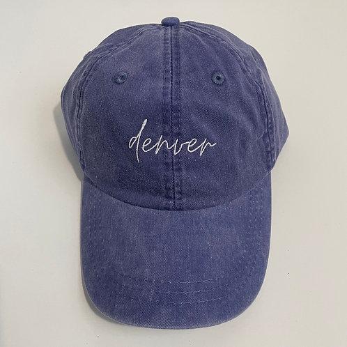 Denver Baseball Cap - Purple/White