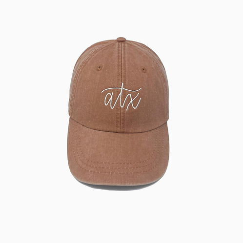ATX Embroidered Pigment-Dyed Baseball Cap (Austin, TX)
