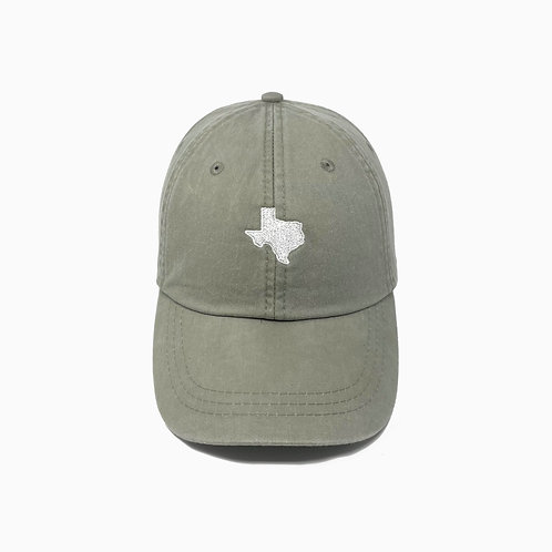 Texas (TX) State Embroidered Pigment-Dyed Baseball Cap