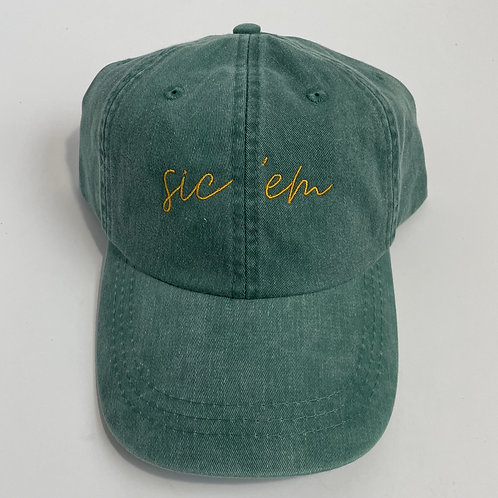 Sic 'Em Baseball Cap - Forest/Gold