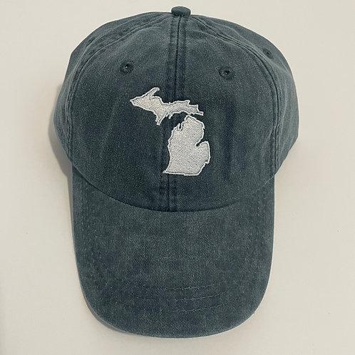 Michigan State Baseball Cap - Navy/White