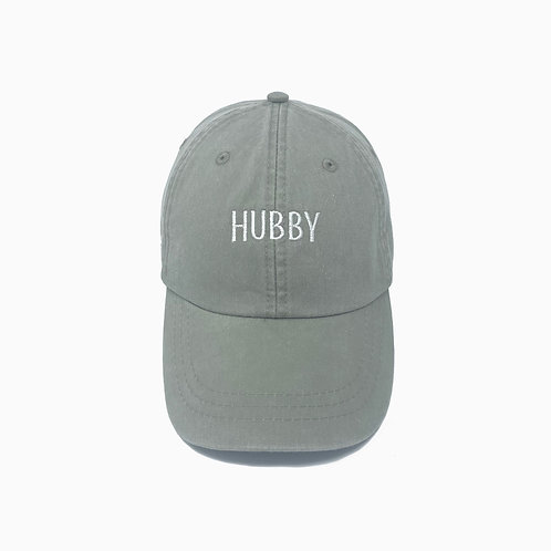 Hubby Embroidered Pigment-Dyed Baseball Cap
