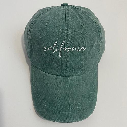 California Baseball Cap - Forest/White