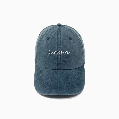 Mama Embroidered Pigment-Dyed Baseball Cap