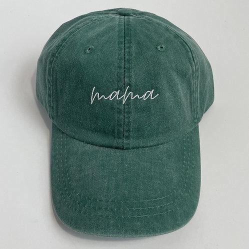 Mama Baseball Cap - Forest/White