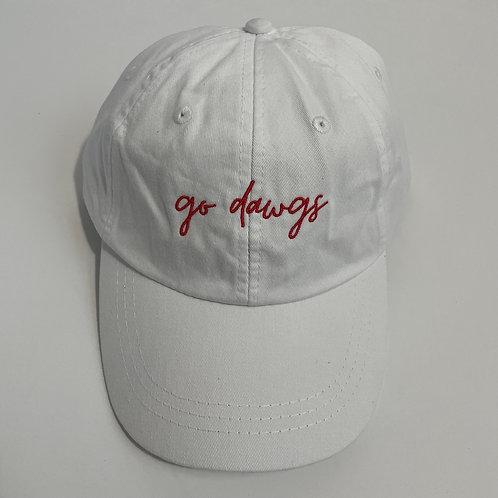 Go Dawgs Baseball Cap - White/Red