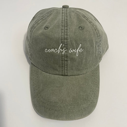 Coach's Wife Baseball Cap - Cactus/White