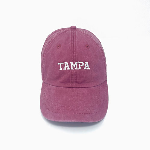 Tampa (FL) Embroidered Pigment-Dyed Baseball Cap