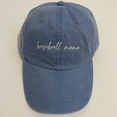 Baseball Mama Baseball Cap - Periwinkle/White