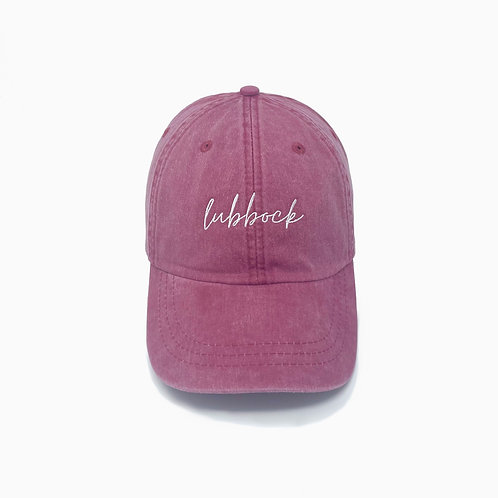 Lubbock (TX) Embroidered Pigment-Dyed Baseball Cap