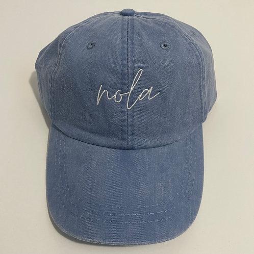 NOLA Baseball Cap - Periwinkle/White