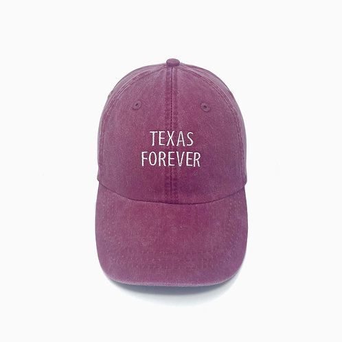 Texas Forever Embroidered Pigment-Dyed Baseball Cap