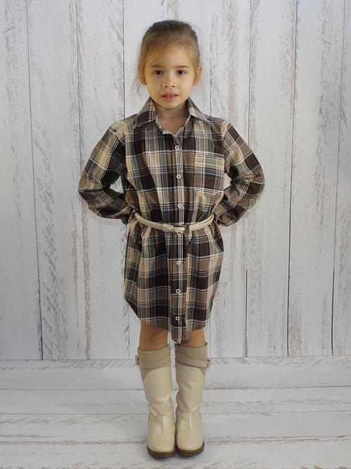Платье – рубашка с поясом артикул: РХ 074