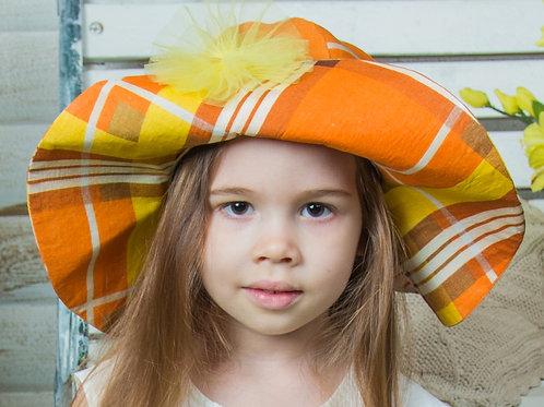 """Шляпа для девочки """" широкие поля"""""""