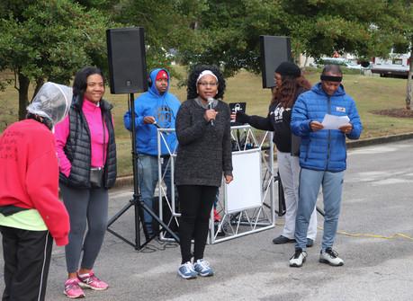 Dr. Orjioke welcomes the   participants  Covenant Pulmonary Critical Care Inaugural Breathe Easy 5K Run & Walk  Saturday - November 16, 2019  Photo: VISDECO