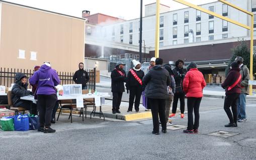 Volunteers setting up for the race  Covenant Pulmonary Critical Care Inaugural Breathe Easy 5K Run & Walk  Saturday - November 16, 2019  Photo: VISDECO