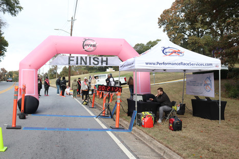 The Finish Line - Performance Race Services  Covenant Pulmonary Critical Care Inaugural Breathe Easy 5K Run & Walk  Saturday - November 16, 2019  Photo: VISDECO