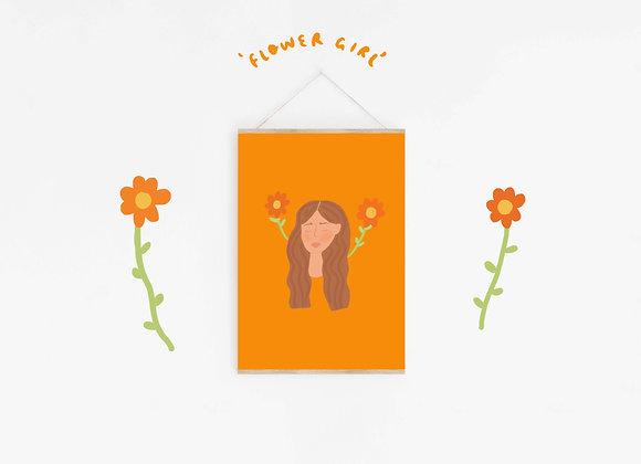 'FLOWER GIRL' PRINT