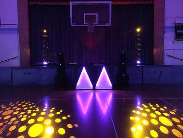 Saints Peter and Paul Elementary School Dance Setup