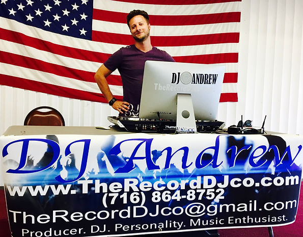 DJ A at a fundraiser, supporting the cause whatever it may be, DJ A and The Record DJ Company are here for Buffalo, let us know what we can do to help...
