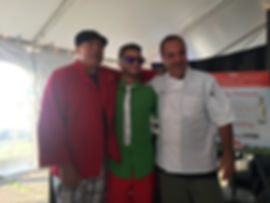 DJ A posing with some of Buffalos Best Chefs and Galbani's very own Celebrity Chef Marco