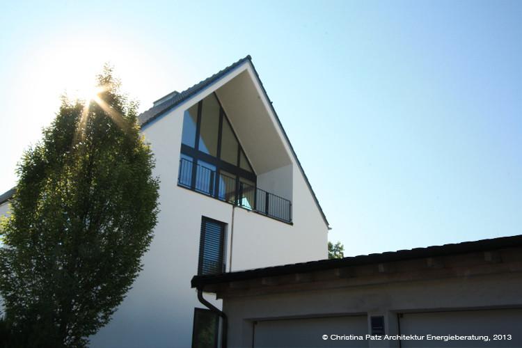 Dachausbau mit Sichtdachstuhl, München Pasing