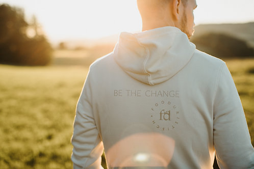 BE THE CHANGE HOODIE off white
