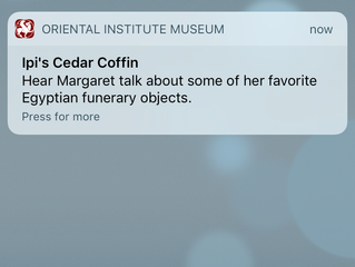 "Beacon Talk: ""Hear Margaret talk about some of her favorite Egyptian funerary objects."""