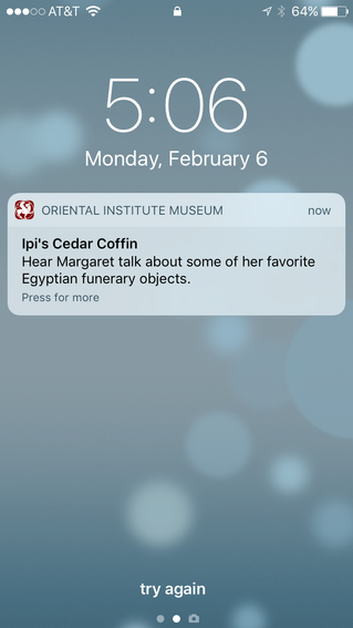 """Beacon Talk: """"Hear Margaret talk about some of her favorite Egyptian funerary objects."""""""