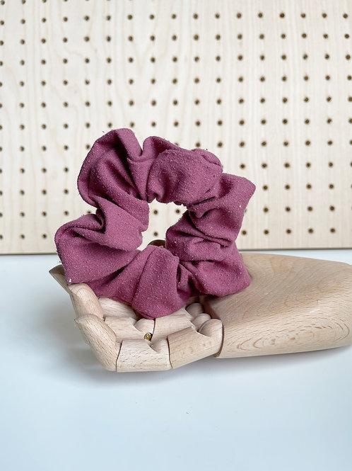 Magenta Raw Silk Scrunchie