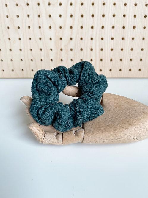Teal Knit Oversized Scrunchie