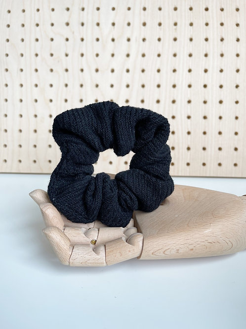 Black Knit Oversized Scrunchie