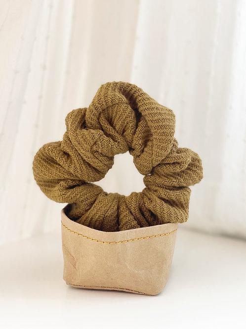 Olive Knit Oversized Scrunchie