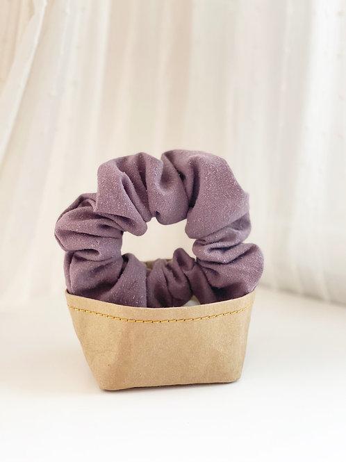 Purple Raw Silk Scrunchie